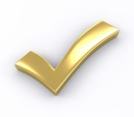 gold check graphic